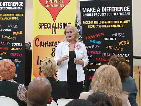 Annika speaking at a Business Forum in Boksburg