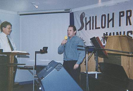 Prophet Derek Ward proclaiming the Word of the Lord